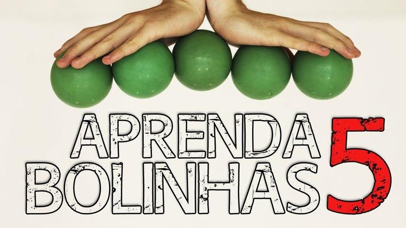 Tutorial 5 bolas: Como fazer malabarismo com 5 bolinhas - How to juggle 5 balls