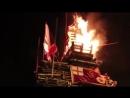 Northern Ireland shock video Horror as hundreds CHEER burning of UK flag poppy wreaths