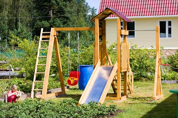 Как сделать на даче уголок для детей