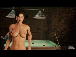 Lara croft bar gang bang