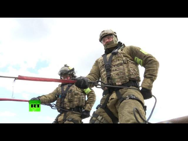 Спецназ ФСБ Альфа и Вымпел тренировка в Крыму