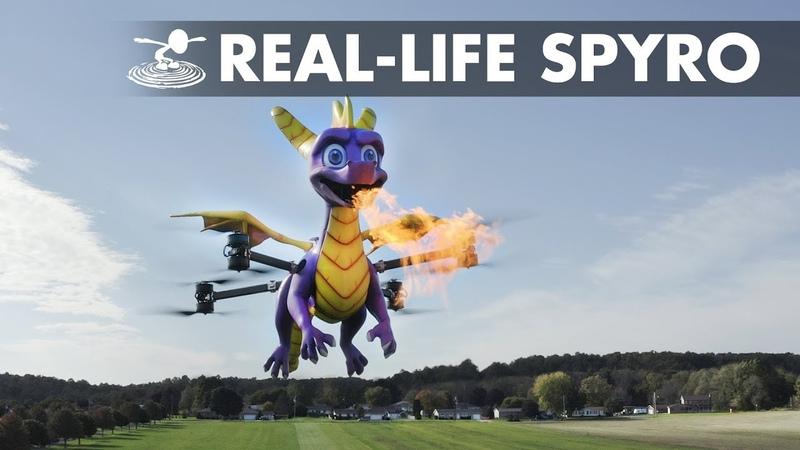 We built a fire breathing Spyro Drone
