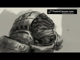 How to draw Grunt from Mass Effect