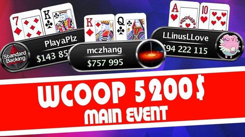 5200$-Main Event: LLinusLLove/mczhang. 1 529 000$ - 1место : )