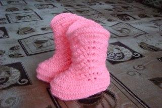 Вязание сапожек спицами для девочек
