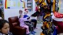 Человек-паук и Бамблби поздравили детей в ДРБ с Новым годом (Сыктывкар, 2019)