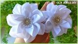 КанзашиЦветы из репсовой лентыKanzashiGrosgrain Ribbon FlowerFlores de fitasOla ames DIY