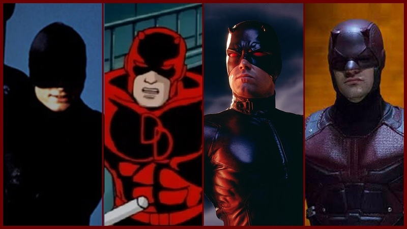 Daredevil Evolution in Movies, Cartoons and TV (2018)
