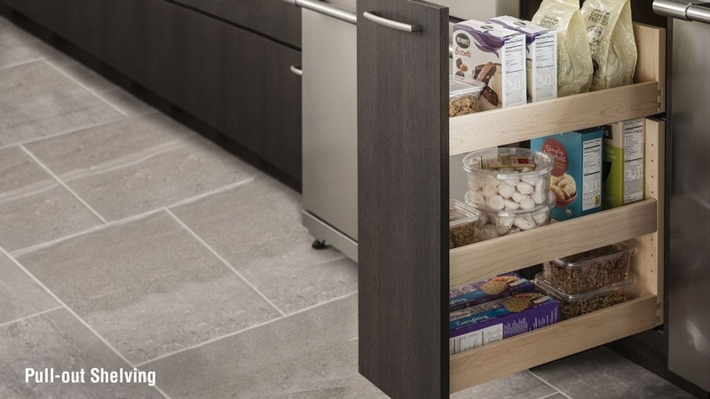 Schuler Kitchen Cabinets Storage Solutions – Pull Out Pantry
