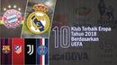 10 Klub Terbaik di Eropa Tahun 2018 Berdasarkan UEFA
