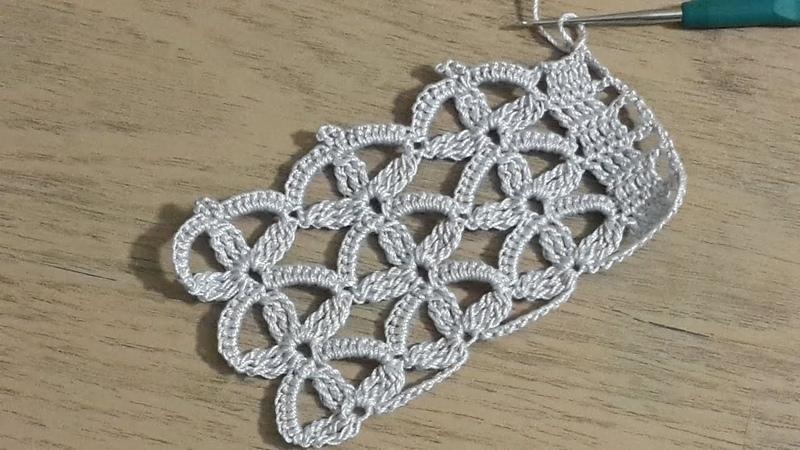 Havlu Kenarı Yapımı, Tığişi Örgü Havlu Kenarı Modeli Yapılışı, Crochet