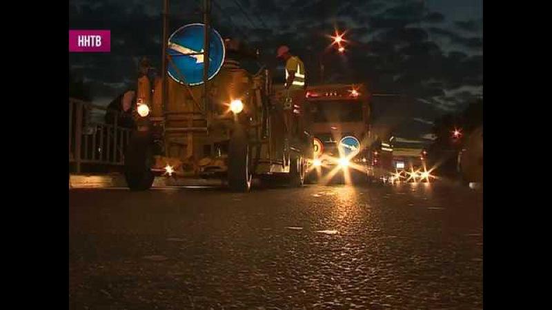 Термопластиковую разметку начали наносить на отремонтированные дороги в Нижне ...