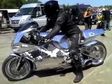 motorcycle with a jet engine from a helicopter (Y2K) mega exhaust sound)))