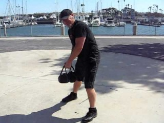 Killer kettlebell workout! X-baG training video swings chops  presses