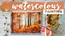 Painting Tutorial | REAL-TIME Watercolor Forest