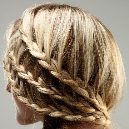 Красивые причёски на средние волосы фото для девочек - 8