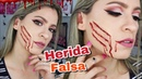 Herida Falsa ROSTRO CORTADO Maquillaje para Halloween NatyGloss