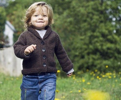 Жакет для мальчика спицами (5 фото) - картинка
