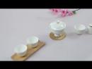Белый керамический чайный сервиз Гайвань Хороший чай должен быть оснащен хорошим чайным сервизом