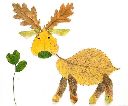 Творчество с детьми.Поделки из листьев…. (6 фото) - картинка