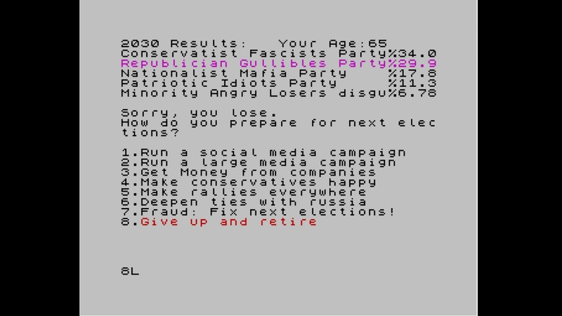 Elector (Advanced Election Simulator) (ZX Spectrum)