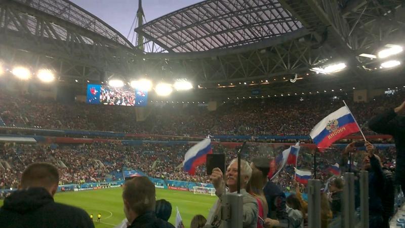 Историческая победа и исторический выход сборной Росии в плей-офф домашнего ЧМ 2018!