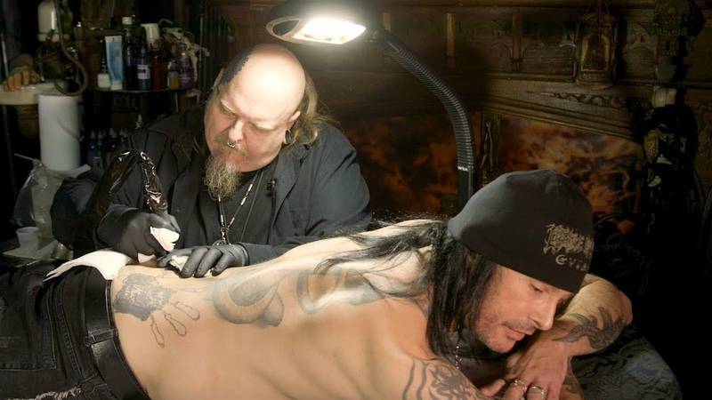 Cradle of Filths Dani Filth Gets Tattooed by Paul Booth