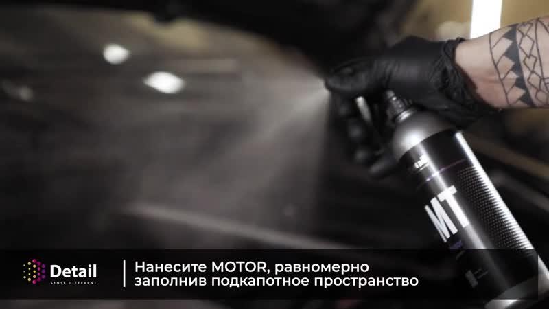 Очистка двигателя и консервация составами Motor и Motor Concervant DETAIL Sens