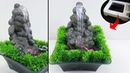 How to make amazing waterfall fountain Water fountain used Thermocol ,Cementfd
