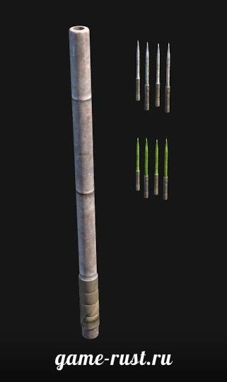 Трубка для метания дротиков в игре Rust