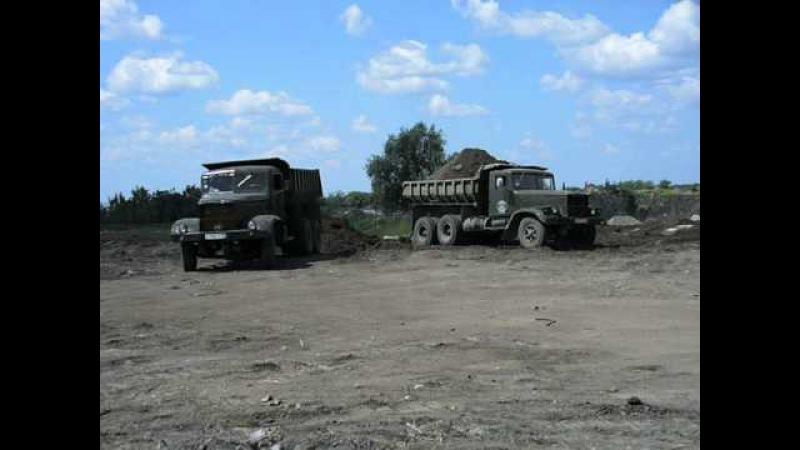 KrAZ-256B1 old soviet dump truck