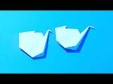 Два способа как сложить оригами журавлик своими руками