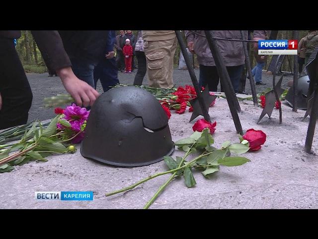 Новый монумент на месте боев Великой Отечественной установлен вблизи Петрозаво...