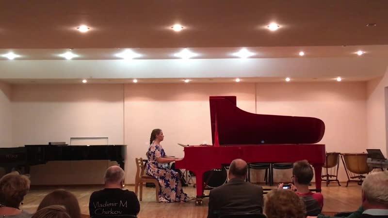 Елизавета Киселёва.Музыкальная среда. Озёрский колледж искусств.Октябрь 2018.