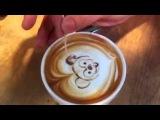 Как рисовать на кофе! ))
