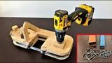 DIY Metal Cutting Bandsaw Making a Portable Bandsaw (Drill Powered)