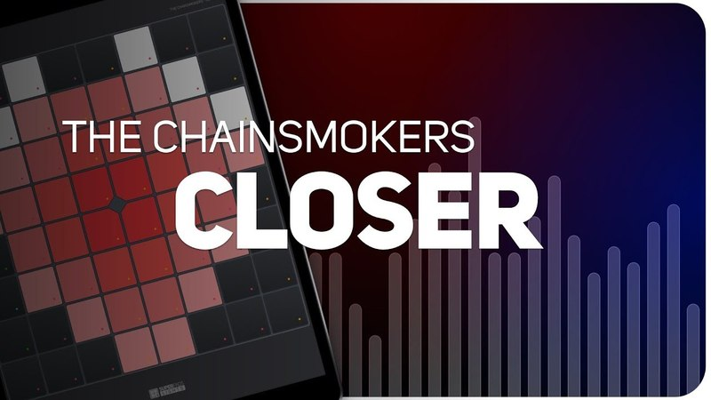 Playing CLOSER | The Chainsmokers on SUPER PADS LIGHTS - Launchpad - KIT POP HIT