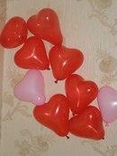3). показать все фото сразу.  Шары сердца розовые и красные где то 17 - 20 см в надутом виде в.