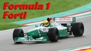 Forti FG03-96 F1 car - Imola circuit 2016 - Action, accelerations, Fly-Bys Pure V10 Sound!