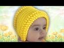 1 ✅ШАПОЧКА ЧЕПЧИК для новорожденных вязание КРЮЧКОМ для начинающих YouTube