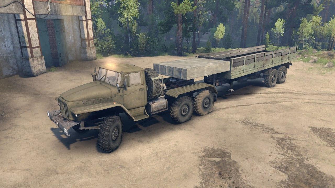 Активный автопоезд Урал-380С-862 (10х10) для Spintires - Скриншот 3
