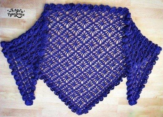 Красивая и очень оригинальная шаль! (3 фото) - картинка