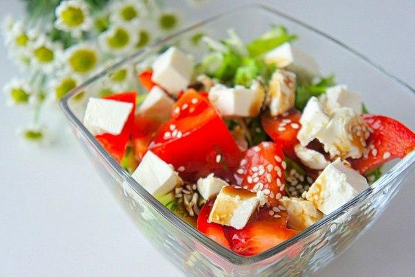«Овощной салат с сыром фета»