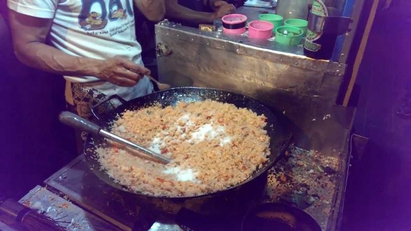 Indonesian Street Food Fried Rice (Nasi Goreng) @Braga Culinary Night, Bandung (Jan 25, 2014)