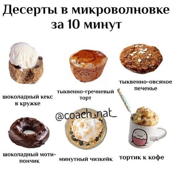 Десерты в микроволновке за 10 мин ????  ⚫️ШОКОЛАДНЫЙ КЕКС...
