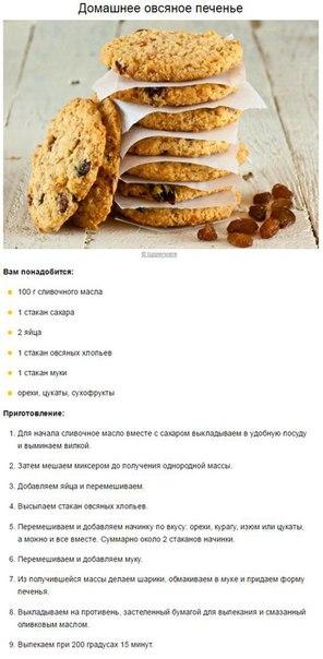 Рецепты для печенья в домашних условиях легкий рецепт 434