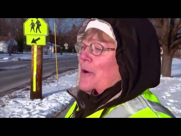 The abominable snowman seen walking streets in Wisconsin