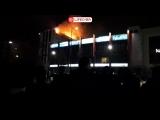 В центре Грозного горит 12-этажный жилой дом Live
