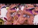 Десятки тиранозавров станцевали на футбольном матче