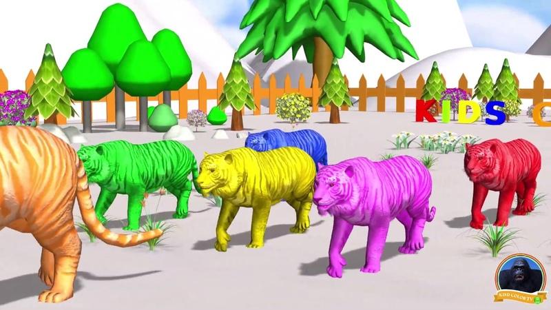 Los animales de granja y sus crías se transforman en animales salvajes en la fuente [episodio 1]